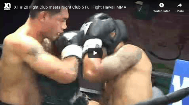 X1 # 20 Fight Club meets Night Club 5 Full Fight Hawaii MMA