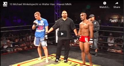 10 Michael Winkelspecht vs Walter Hao : Hawaii MMA