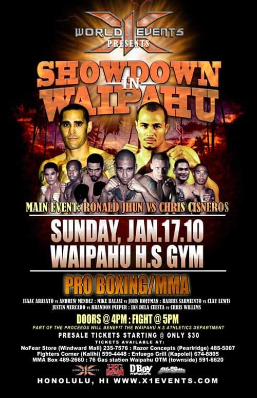 X1#29 Showdown in Waipahu 1 January 1, 2017 Fight results