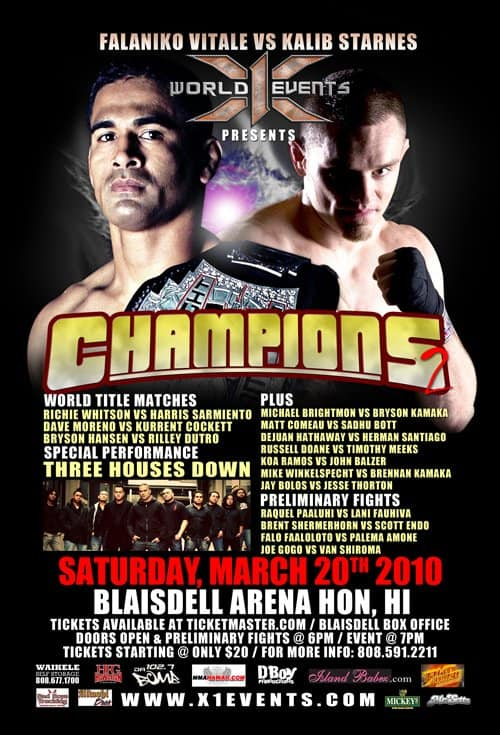 X1#30: Champions 2 (Mar 20,2010) Fight Results