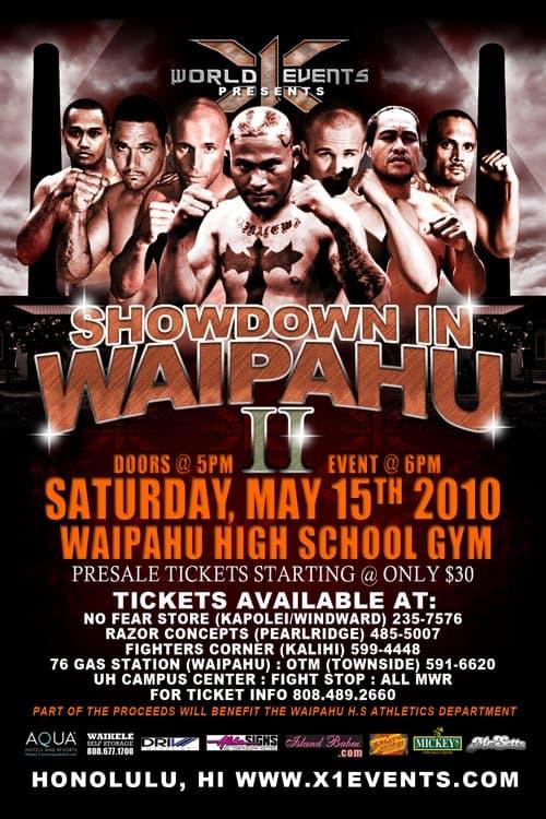 X1#32: Showdown in Waipahu 2 (May 15,2010) Fight Results
