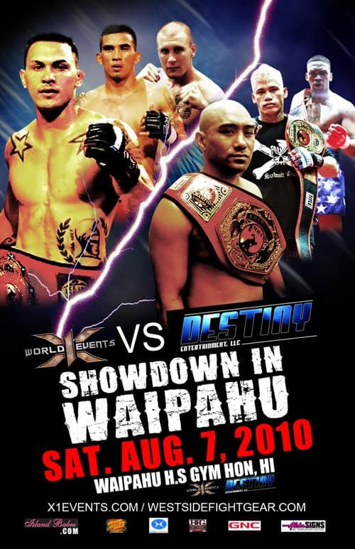 X1#33 Showdown in Waipahu 3 August 7 2010 Fight Results