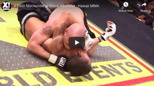 4 Colin Mackenzie vs Steve Albanese : Hawaii MMA