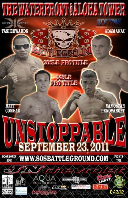 X1#40 Unstoppable September 23, 2011 Fight Results