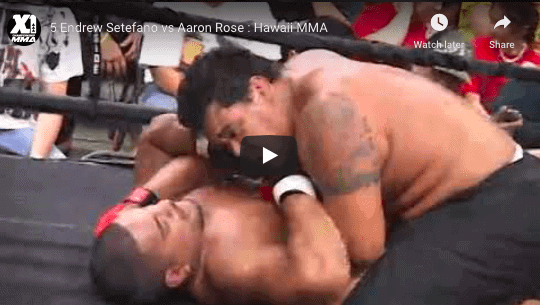 5 Endrew Setefano vs Aaron Rose : Hawaii MMA