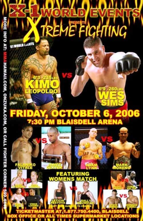 X5 Xtreme Fighting 1 Oct 06 2006