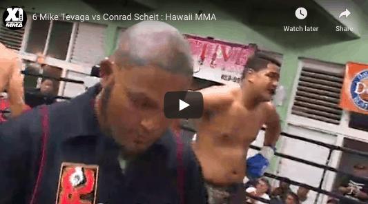 6 Mike Tevaga vs Conrad Scheit : Hawaii MMA