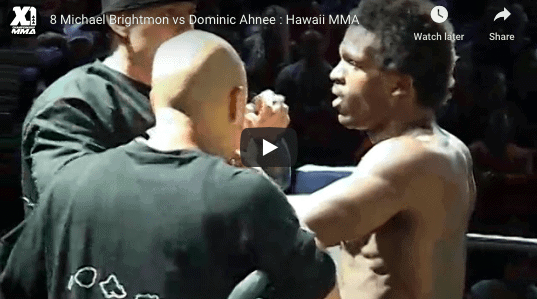 8 Michael Brightmon vs Dominic Ahnee : Hawaii MMA