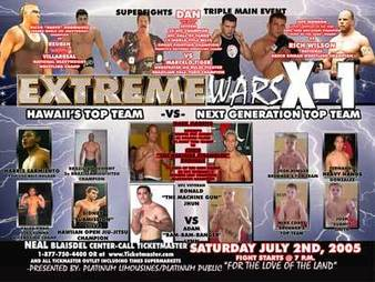 X1#1: Extreme Wars July 2 2005 Fight Results