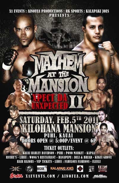 X1: Mayhem at the Mansion (Feb 5,2011) Fight Results
