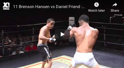 Brenson Hansen vs Daniel Friend