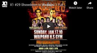 X1 #29 Showdown in Waipahu 1 Full Fight : Hawaii MMA