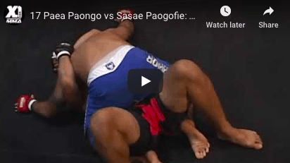 17 Paea Paongo vs Sasae Paogofie: Hawaii MMA